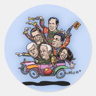 Coche primario del GOP Pegatina Redonda
