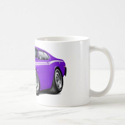 Coche Púrpura-Blanco 1970-74 del plumero Taza Básica Blanca