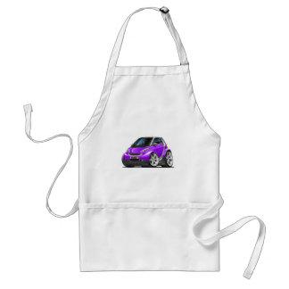 Coche púrpura elegante delantales