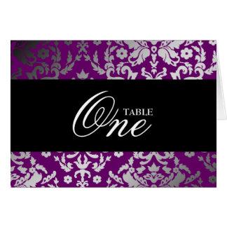 coche púrpura extraordinario de la tabla del damas tarjeton