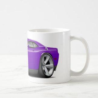 Coche Púrpura-Negro del desafiador SRT8 Taza Básica Blanca