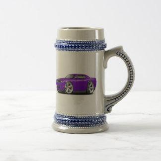 Coche Púrpura-Negro del desafiador SRT8 Jarra De Cerveza