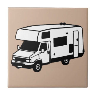 coche que acampa azulejo cuadrado pequeño