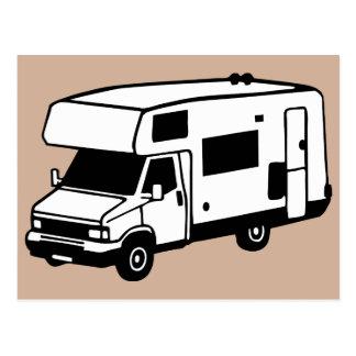 coche que acampa postales