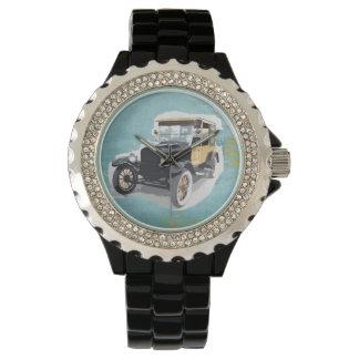 Coche/reloj del vintage relojes de pulsera