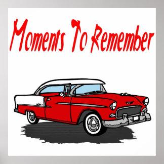 Coche retro de Chevy del poster 1955 del coche del