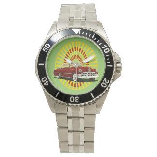 Coche retro relojes de mano