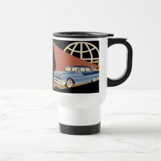 Coche retro taza de viaje
