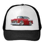 Coche Rojo-Blanco 1955 de Chevy Belair Gorro De Camionero