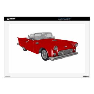 Coche rojo clásico de los años 50 portátil skins