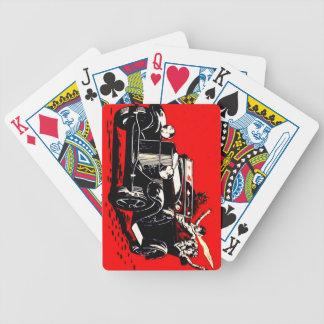 Coche rojo de las mujeres del secuestro de Krampus Baraja Cartas De Poker