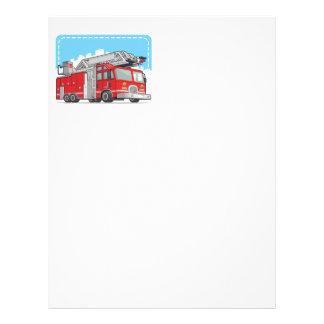Coche rojo del coche de bomberos o de bomberos tarjetas informativas