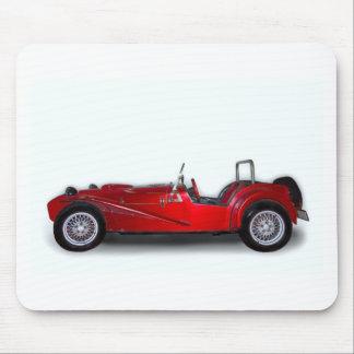 coche rojo elegante tapete de ratones