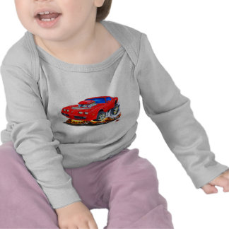 Coche Rojo-Gris 1979-81 del transporte Camiseta
