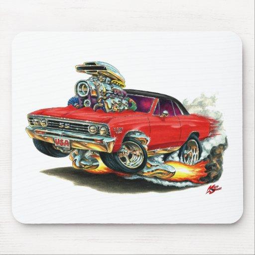 Coche Rojo-Negro 1967 de Chevelle Alfombrilla De Raton