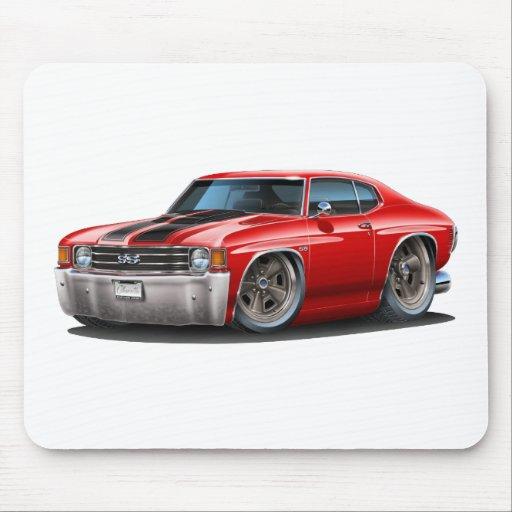 Coche Rojo-Negro 1971-72 de Chevelle Alfombrillas De Ratones