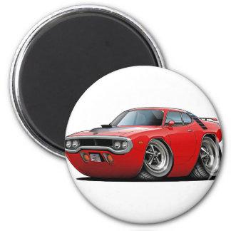 Coche Rojo-Negro 1971-72 del Roadrunner Imanes Para Frigoríficos