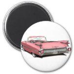 Coche rosado 1959 de Cadillac Imán Redondo 5 Cm