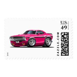 Coche rosado 1970-72 del desafiador estampilla