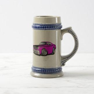 Coche rosado 1970-74 del plumero 340 jarra de cerveza