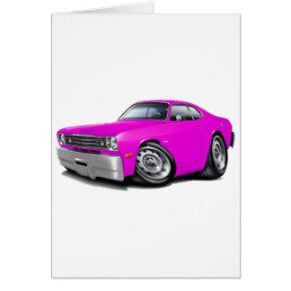 Coche rosado 1970-74 del plumero tarjeta de felicitación