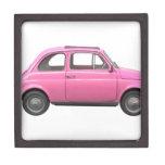Coche rosado del italiano del vintage de Fiat 500 Caja De Regalo De Calidad