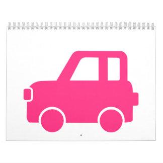 Coche rosado lindo calendario