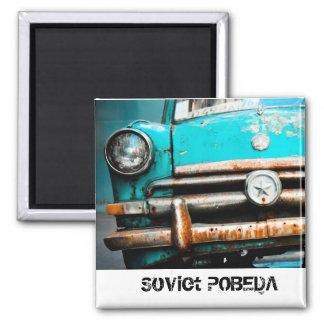 Coche ruso del vintage de Pobeda Imán De Frigorifico