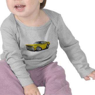 Coche superior Amarillo-Negro 1970-74 del plumero Camisetas
