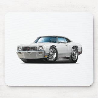 Coche superior Blanco-Negro 1971 de Monte Carlo Tapete De Raton