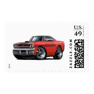Coche superior Rojo-Negro 1970 de Plymouth GTX Envio