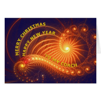Coche, un deseo del navidad tarjeta de felicitación