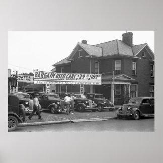 Coche usado Lot, 1938 de Ohio Impresiones