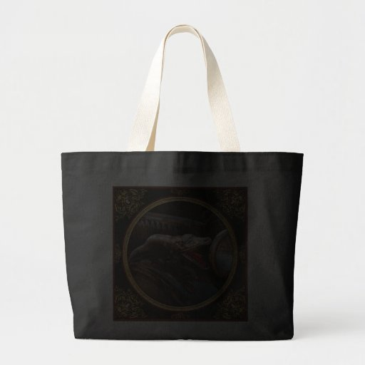 Coche - vapor - encantador de serpiente bolsa tela grande