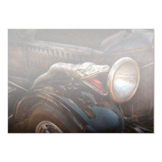 Coche - vapor - encantador de serpiente invitación 12,7 x 17,8 cm