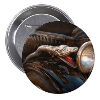 Coche - vapor - encantador de serpiente pin redondo de 3 pulgadas