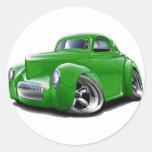 Coche verde 1941 de Willys Pegatina