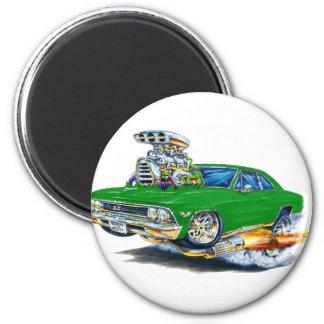 Coche verde 1966 de Chevelle Imán Redondo 5 Cm
