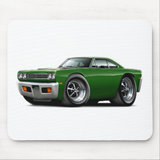 Coche verde 1969 del Roadrunner Alfombrilla De Ratones