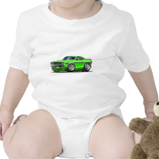 Coche verde 1970-72 del desafiador trajes de bebé