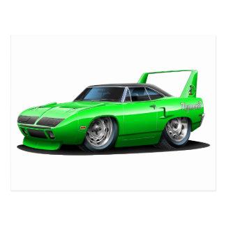 Coche verde 1970 de Plymouth Superbird Tarjeta Postal