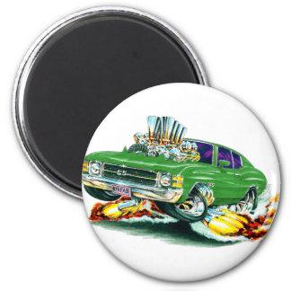 Coche verde 1971-72 de Chevelle Imán Redondo 5 Cm