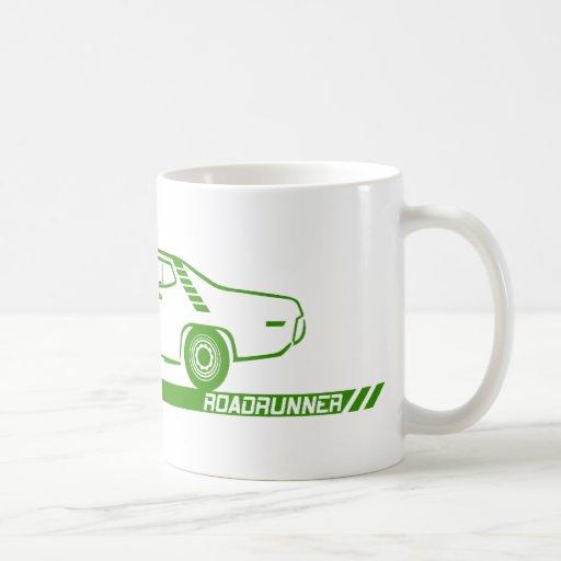 Coche verde 1971-72 del Roadrunner Taza Clásica