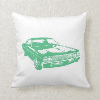 Coche verde almohada