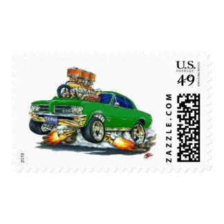 Coche verde de 1964 GTO Sellos Postales