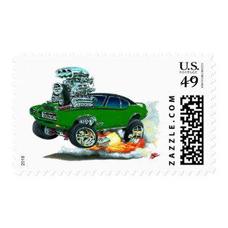 Coche verde de 1968 GTO Sellos Postales