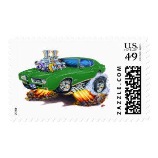 Coche verde de 1969 GTO Sellos Postales