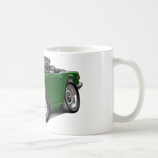 Coche verde de Triumph TR6 Tazas De Café