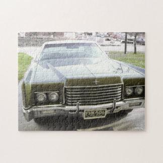 coche verde del vintage de los años 70 puzzle