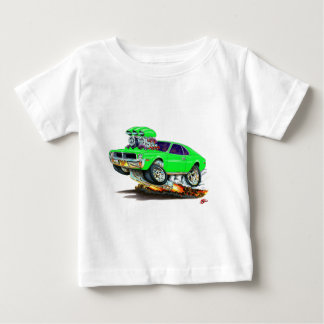 Coche verde sublime de la jabalina de AMC Playera De Bebé